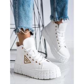 Goodin Wysokie Trampki Fashion białe 3