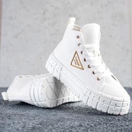 Goodin Wysokie Trampki Fashion białe 1