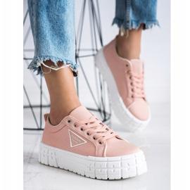 Goodin Różowe Trampki Fashion Shoes 2