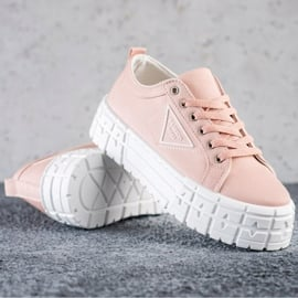 Goodin Różowe Trampki Fashion Shoes 1