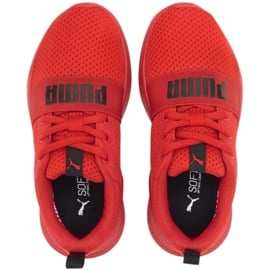 Buty Puma Wired Run Jr 374216 05 czerwone 3