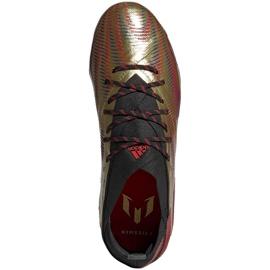 Buty piłkarskie adidas Nemeziz Messi.1 Fg Jr FY0806 pomarańczowy, złoty złoty 1