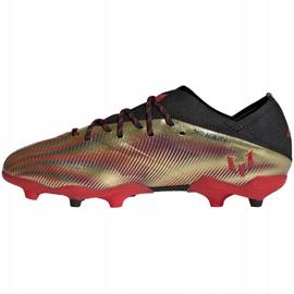 Buty piłkarskie adidas Nemeziz Messi.1 Fg Jr FY0806 pomarańczowy, złoty złoty 2