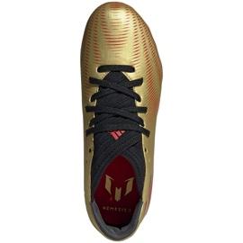 Buty piłkarskie adidas Nemeziz Messi.3 Fg Jr FY0807 pomarańczowy, złoty złoty 1