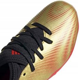 Buty piłkarskie adidas Nemeziz Messi.3 Fg Jr FY0807 pomarańczowy, złoty złoty 3