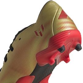 Buty piłkarskie adidas Nemeziz Messi.3 Fg Jr FY0807 pomarańczowy, złoty złoty 4
