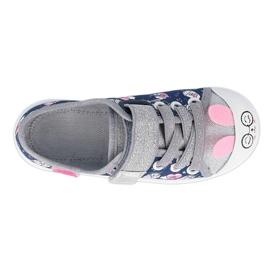 Befado obuwie dziecięce  251X169 granatowe różowe srebrny 1