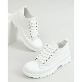 Trampki damskie białe LA122 White 1