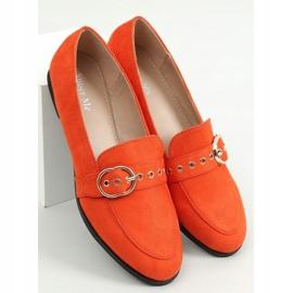 Mokasyny damskie pomarańczowe GQ05 Orange 1