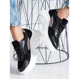 Seastar Czarne Sneakersy Na Platformie 2