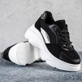 Seastar Czarne Sneakersy Na Platformie 1