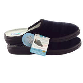 Befado obuwie męskie zdrowotne kapcie klapki 125M010 granatowe 5