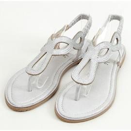 Sandałki japonki srebrne 6170 Silver srebrny 1