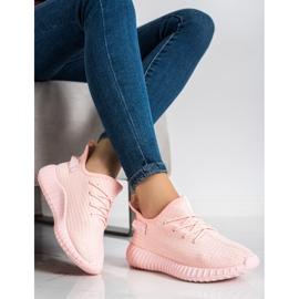 Marquiz Tekstylne Sneakersy różowe 2