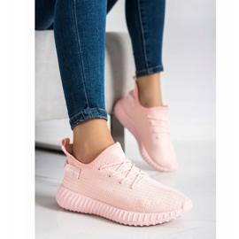 Marquiz Tekstylne Sneakersy różowe 3