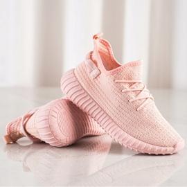 Marquiz Tekstylne Sneakersy różowe 1