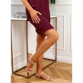 Sandałki zamszowe różowe Z5721 Pink 3