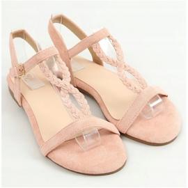 Sandałki zamszowe różowe Z5721 Pink 1