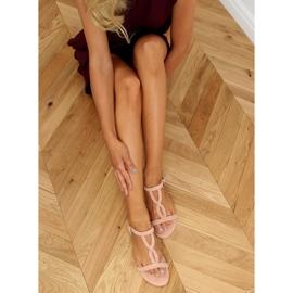 Sandałki zamszowe różowe Z5721 Pink 2