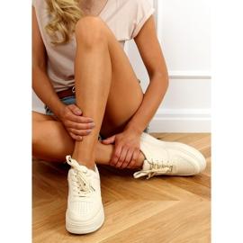 Buty sportowe damskie beżowe G191 Beige beżowy 2