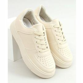 Buty sportowe damskie beżowe G191 Beige beżowy 1