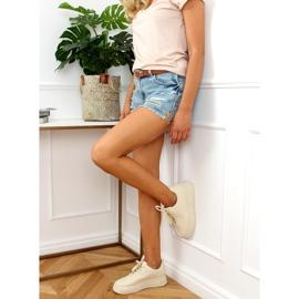 Buty sportowe damskie beżowe G191 Beige beżowy 3