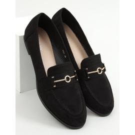 Mokasyny damskie czarne GQ01 Black 1