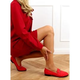 Mokasyny damskie czerwone GQ01 Red 3