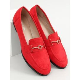 Mokasyny damskie czerwone GQ01 Red 1