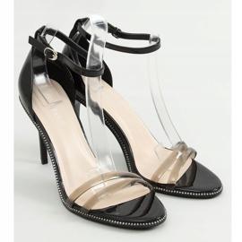 Sandałki na szpilce czarne P2L6735-6 Black 1