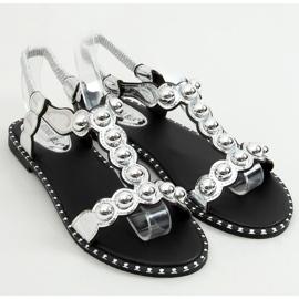 Sandałki damskie srebrne M6P111-1 Silver srebrny 1