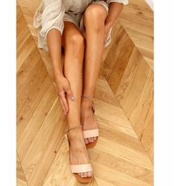 Sandałki z łańcuszkiem beżowe HY23-11 Nude beżowy 3