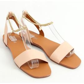 Sandałki z łańcuszkiem beżowe HY23-11 Nude beżowy 1