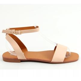 Sandałki z łańcuszkiem beżowe HY23-11 Nude beżowy 2