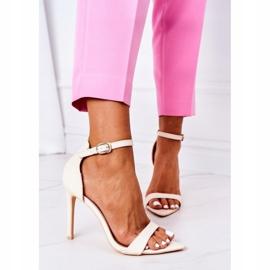 Eleganckie Sandały Na Szpilce Lu Boo Beżowe beżowy 2