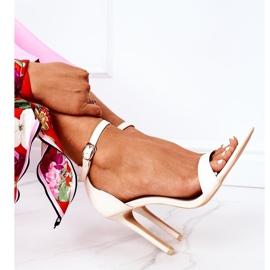 Eleganckie Sandały Na Szpilce Lu Boo Beżowe beżowy 5