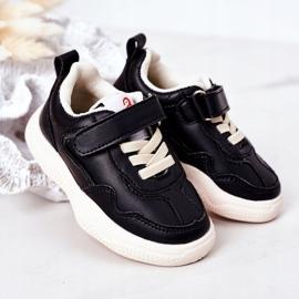 Apawwa Dziecięce Sportowe Buty Sneakersy Czarne Runner 2