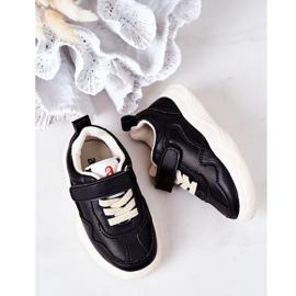 Apawwa Dziecięce Sportowe Buty Sneakersy Czarne Runner 3