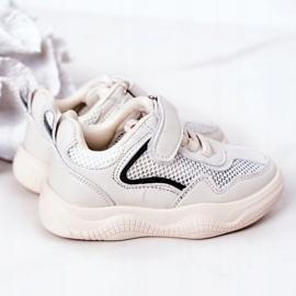 Apawwa Dziecięce Sportowe Buty Sneakersy Beżowe Fun beżowy 3