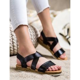 Kayla Wsuwane Sandały Z Gumką czarne 3