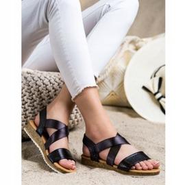 Kayla Wsuwane Sandały Z Gumką czarne 1