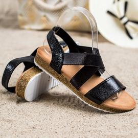 Kayla Wsuwane Sandały Z Gumką czarne 2