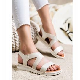 Best Shoes Wsuwane Sandały Z Brokatem złoty 2