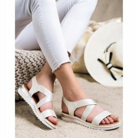 Best Shoes Wsuwane Sandały Z Brokatem złoty 3
