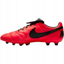 Buty piłkarskie Nike The Premier Ii Fg M 917803 607 czerwone czerwone 2