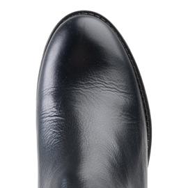 Marco Shoes Czarne kozaki ze skóry naturalnej 4