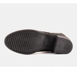 Marco Shoes Komfortowe damskie botki w połączeniu skóry licowej i nubuku czarne 7