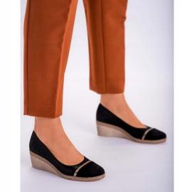 Marco Shoes Półbuty 1205P Marco na klinie czarne 2