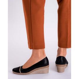 Marco Shoes Półbuty 1205P Marco na klinie czarne 4