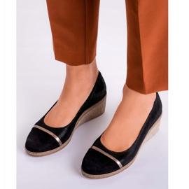 Marco Shoes Półbuty 1205P Marco na klinie czarne 6